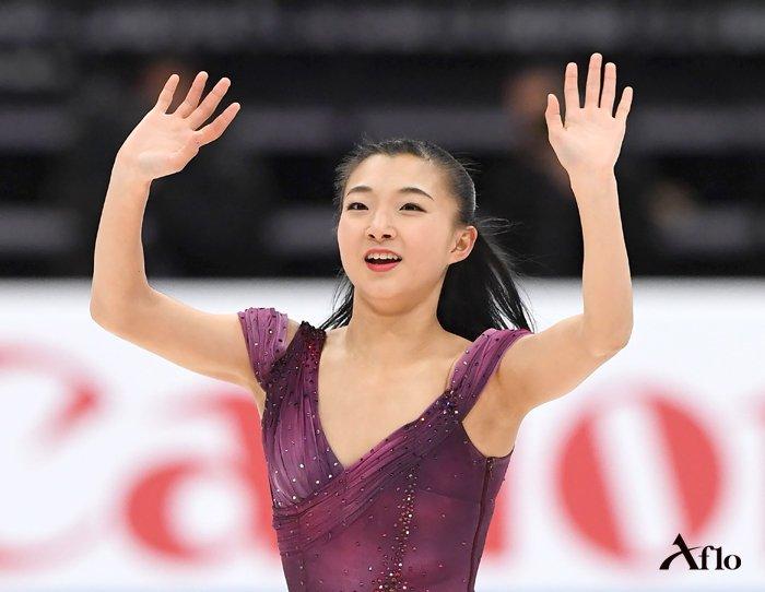 """写真:アフロ on Twitter: """"フィギュアスケート四大陸選手権の女子 ..."""