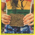Image for the Tweet beginning: August 1989. Jamaican brick weed
