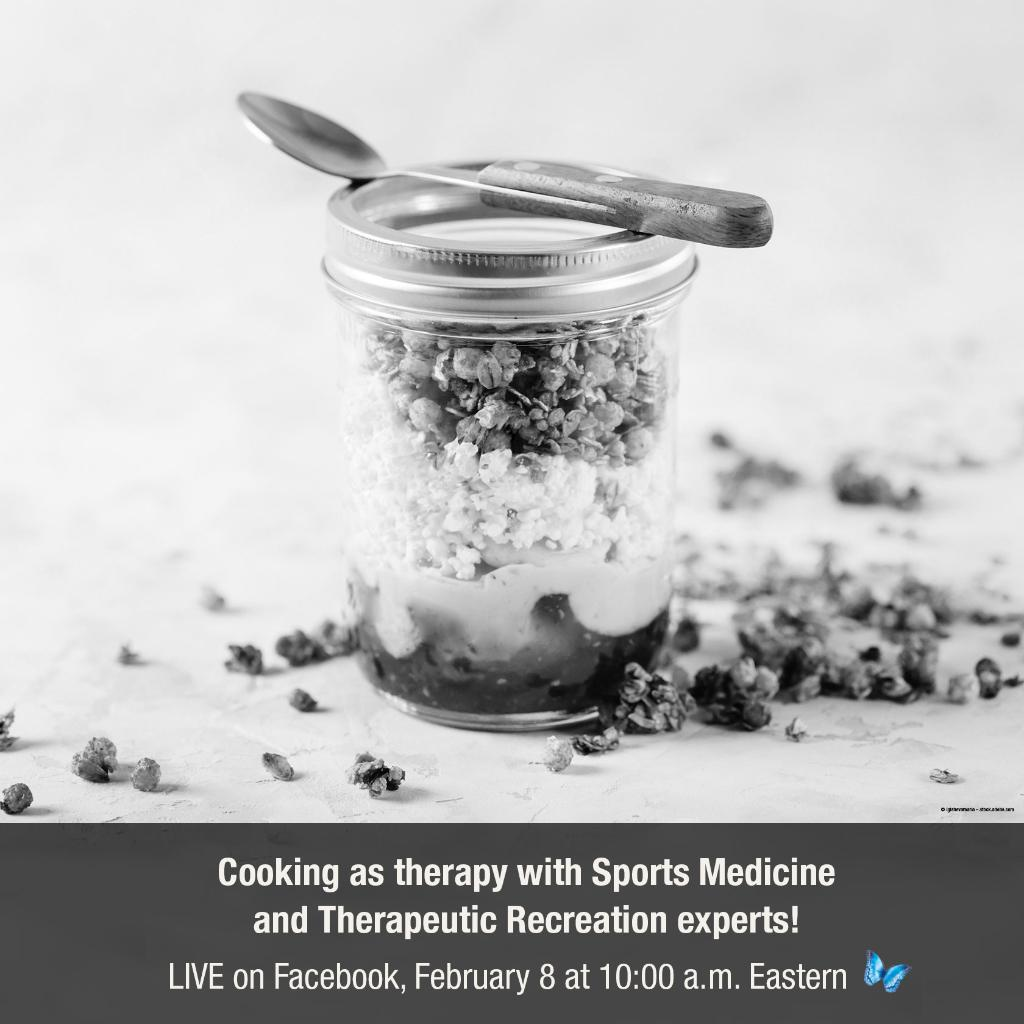 Have you ever considered using cooking as therapy? Join our @NCHSportsMed and Therapeutic Recreation experts tomorrow at 10 am LIVE on our Facebook page as they share tips and recipes!