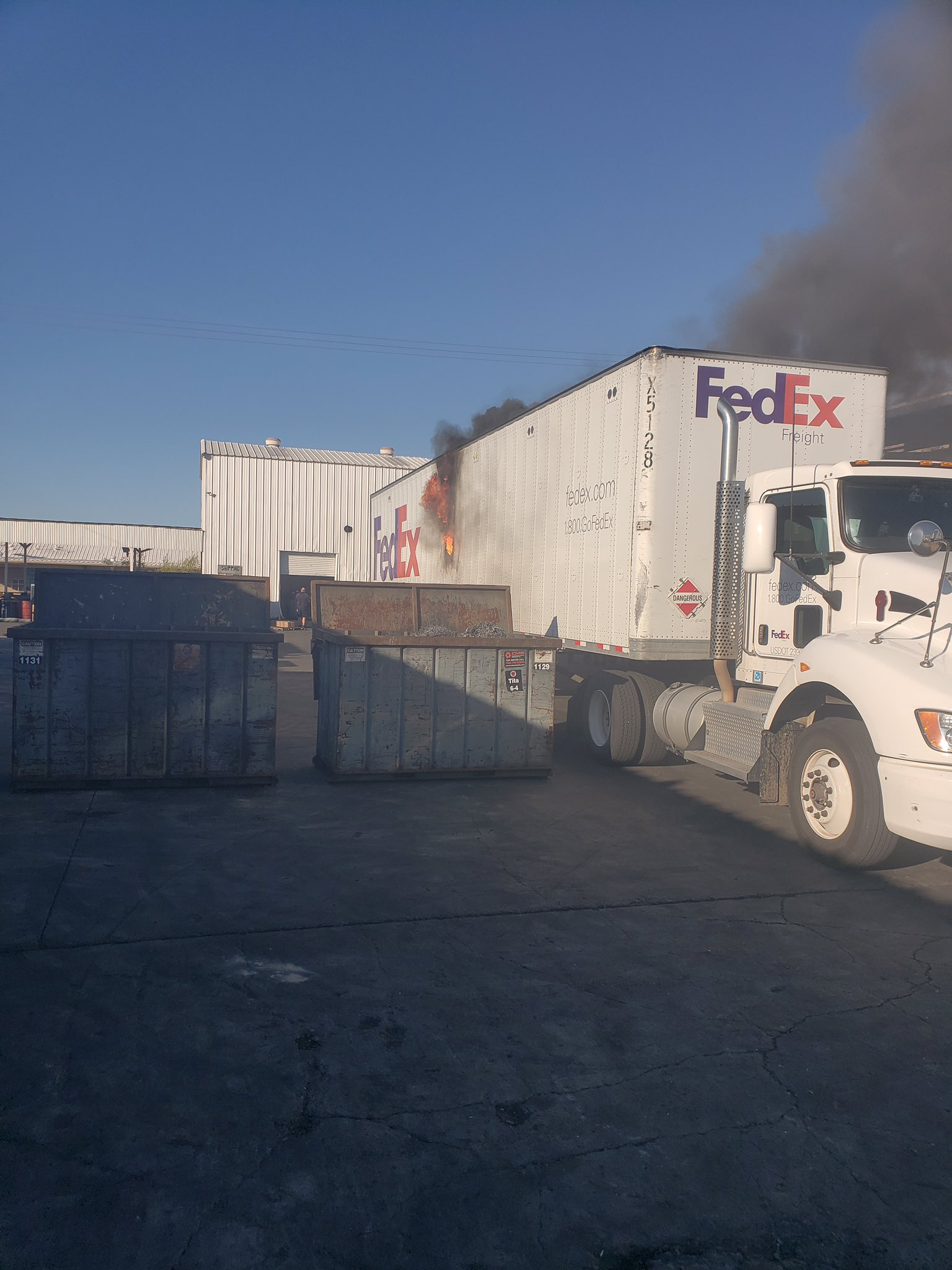 Travis Rice On Twitter Photos From Employee Show Fedex Truck Fire Became Hazmat Situation At Machining Manufacturing In El Cajon No One Was Injured