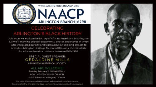 Join us as we explore the history of African Americans in Arlington! We'll examine stories of those who integrated our city & learn about Arlington Heritage Memorial Grounds, burial site for African American citizens between 1920-1950s.  RSVP here: https://www.facebook.com/events/369850000492105/ …  #BHM