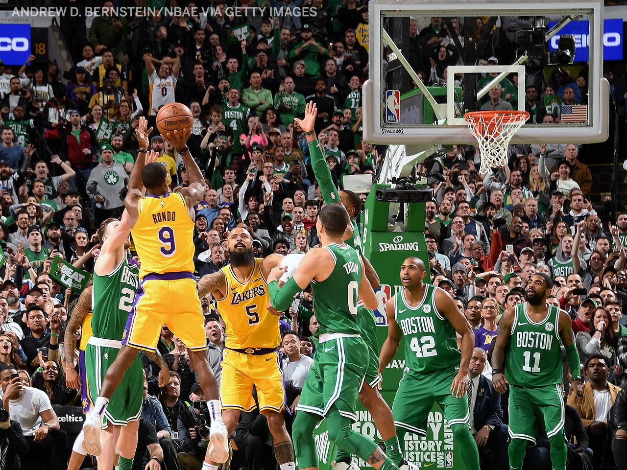 RONDO CALLED GAME IN BOSTON �� https://t.co/nTwY3dG2kH