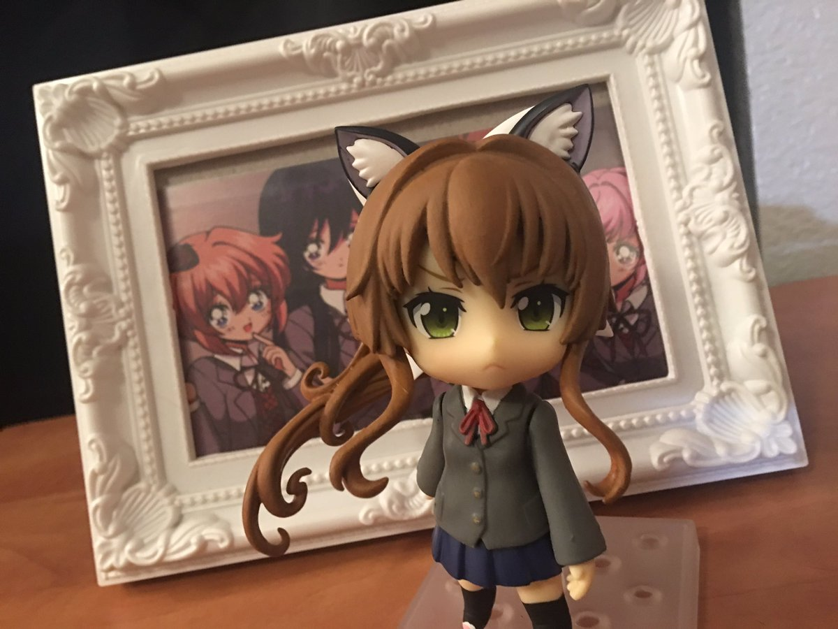 Finished another nendoroid commission :) None other than just Monika!   Made by me! Commissioned by someone off of reddit~ 🥰❤️  #ddlc #nendoroid