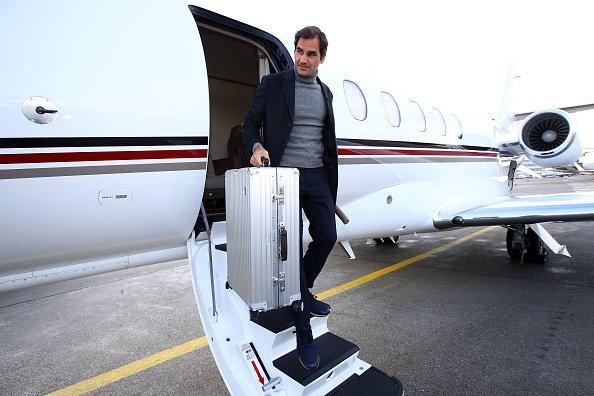 #Federer arrives in Geneva #LaverCup2019 (Getty)<br>http://pic.twitter.com/kbwPjAaxs6