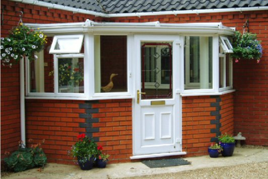 Fed up of having nowhere to put those muddy boots or dripping coats on wet days? A #porch from Horsford is the answer!