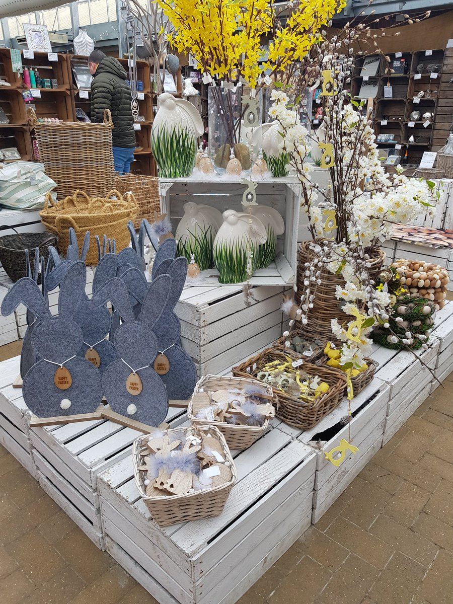 With Easter just on the other side of the cold weather we are getting ready with our displays! #Easter #springtime #bunnies #eggs #bonnets