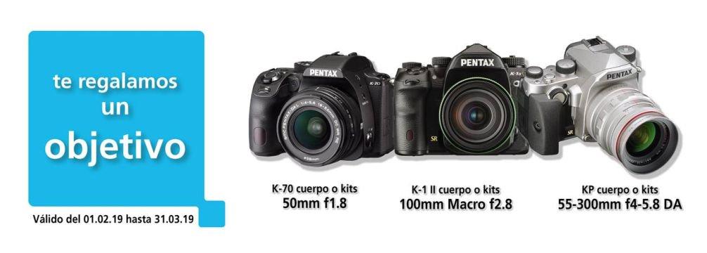¡Te regalamos un objetivo! 🎉 Ahora por la compra de una @PentaxSpain #K70, #KP o una #K1markII en cualquiera de sus combinaciones (cuerpo o kits), te regalaremos un objetivo #Pentax.  Infórmate en nuestro Blog 👉 http://ow.ly/Ub5Q30nCxvC