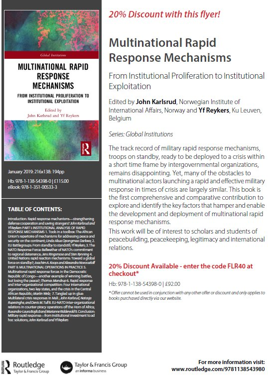 A story of continued inter-organizational competition and delayed crisis  response. http   routledge.com 9781138543980 pic.twitter.com 0HUvotwHcV 8356f84224965