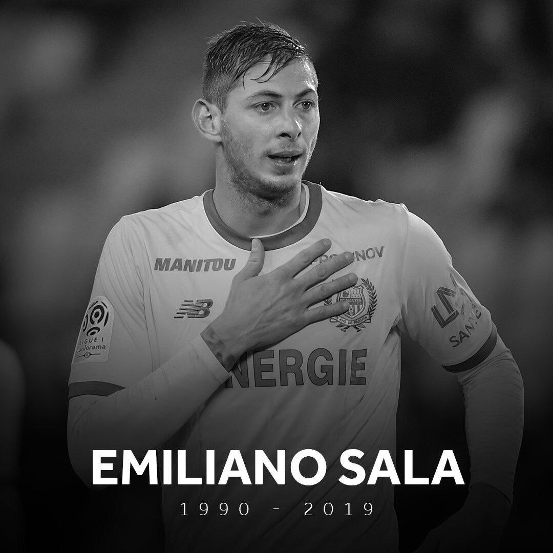 My condolences to the family and friends of Emiliano Sala. Such sad news. RIP.