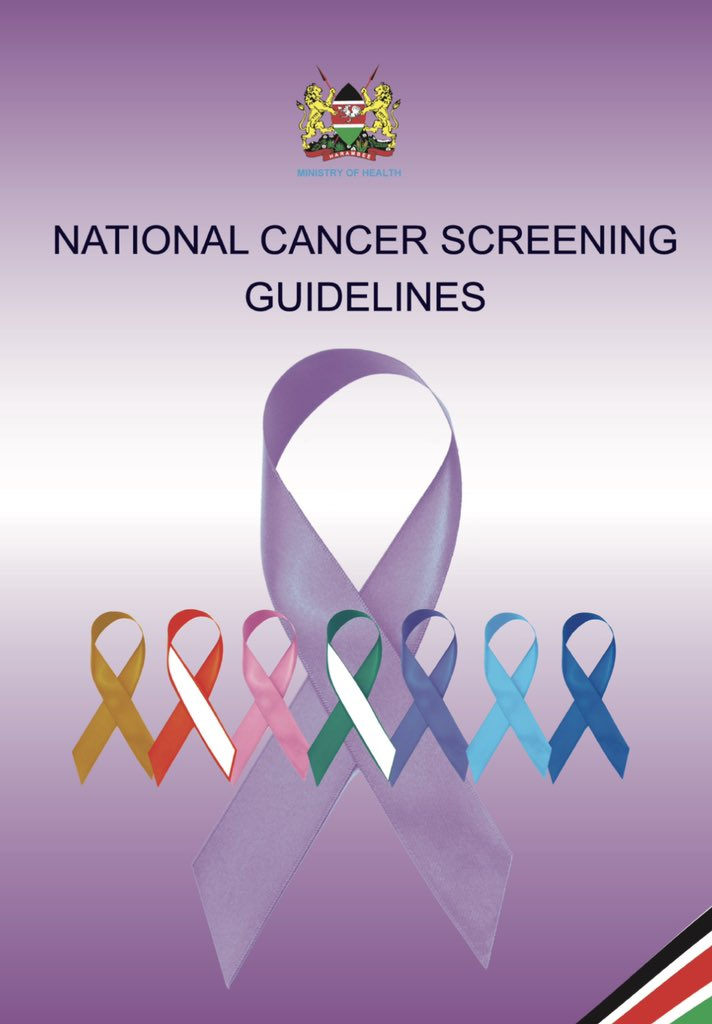 I'm honored to have been part of the team that developed the new Kenya National Cancer Screening Guidelines, published by the Ministry of Health, that has now been released for free circulation following the official launch on #WorldCancerDay 4th Feb 2019  https://www. facebook.com/10001557736071 4/posts/489177164944858/  … <br>http://pic.twitter.com/vWgI6RDZTo