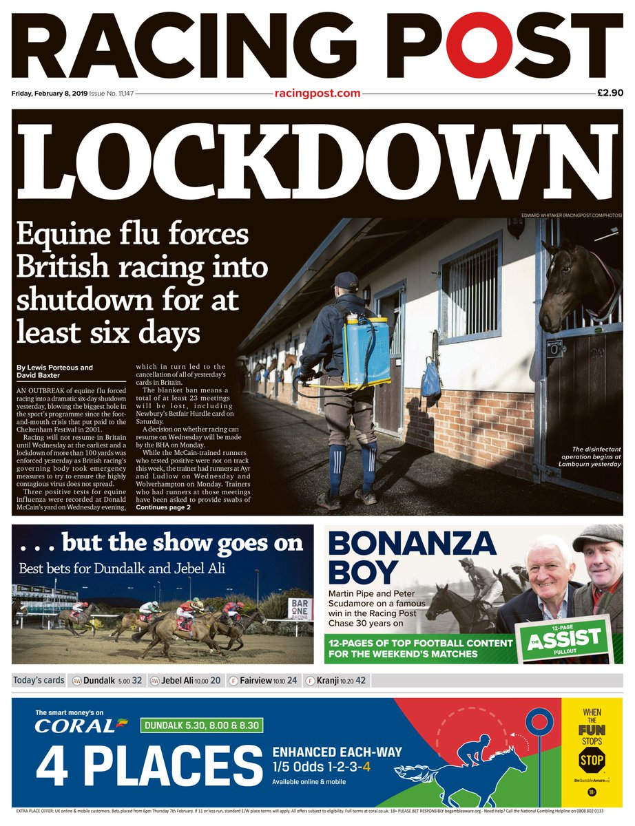 8cbc59548871 In today s RP  full reaction to the outbreak of equine influenza in Britain  plus memories