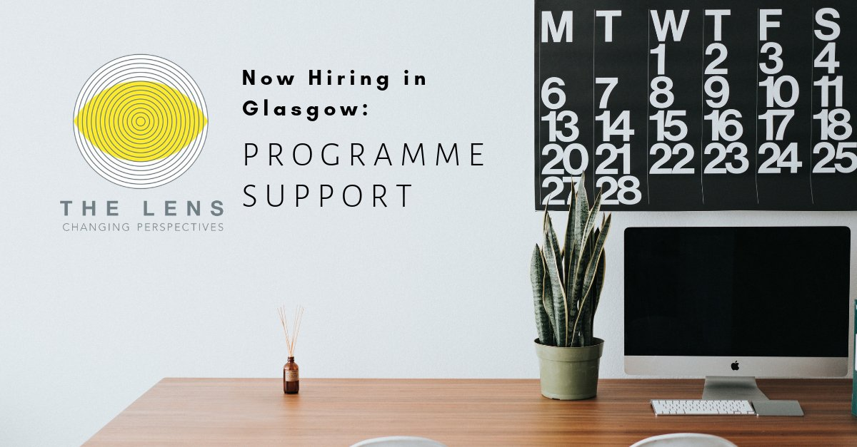 Closing soon - Are you a #proactive and #organised individual with experience organising events and #digitalcommunications? The Lens is looking for a Programme Support to join their team in #Glasgow! #jobs #jobpostings #hiringnow #careers #Events #workshop http://bit.ly/2ReOMGC