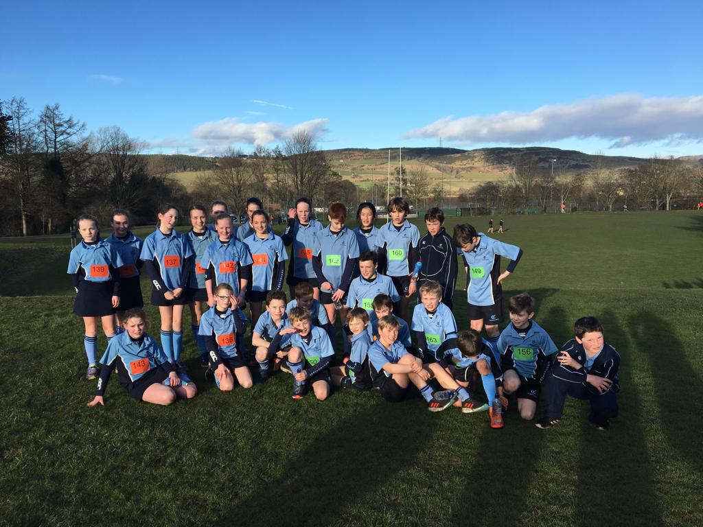 We sent a big squad to @strath_sport for the #crosscountry races yesterday. Form 8's Jamie L won the U14 race and some of our other boys and girls placed highly too. No team results yet - but they all did very well.