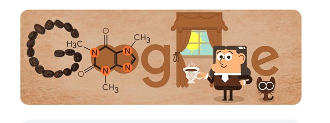 I'm liking today's Google doodle... This morning I'm raising my mug to analytical chemist Friedlieb Ferdinand and his work on caffeine.