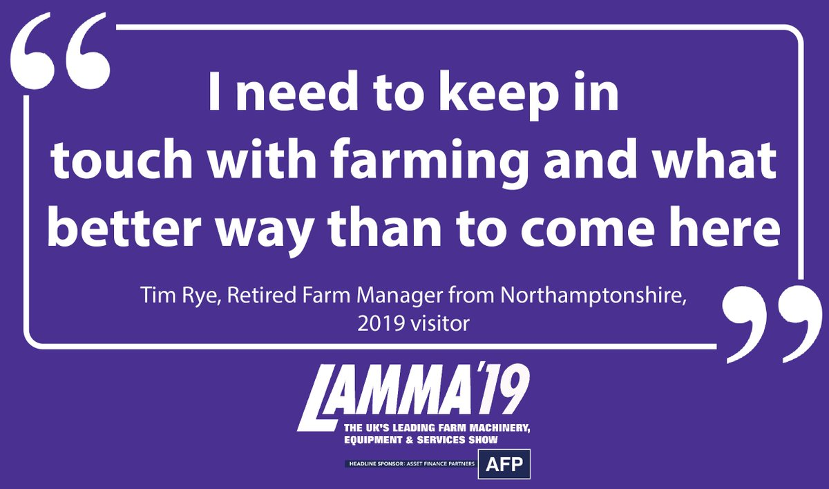 With all of the #ag industry meeting in one place - what better place to keep in touch than at #LAMMA19? Sign up to our newsletter to find out the latest on #LAMMA20 http://ow.ly/XDgU30nkS3D