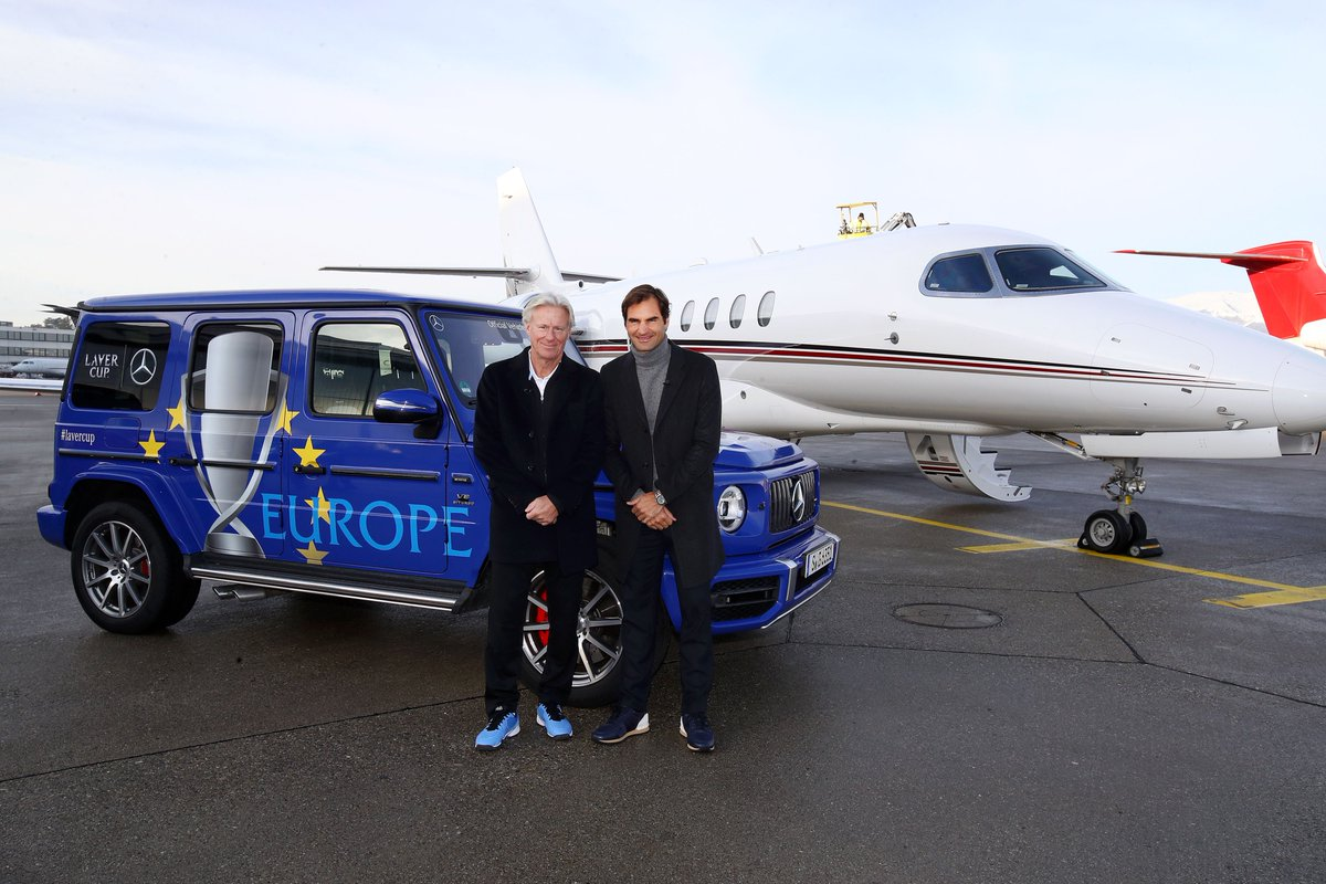 Car for Mr Borg and Mr Federer! #TeamEurope #LaverCup #Geneva