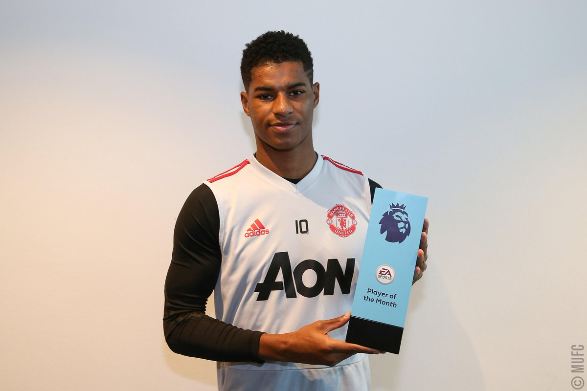 Presenting the @PremierLeague Player of the Month for January: @MarcusRashford! 🏆 #MUFC #PLAwards