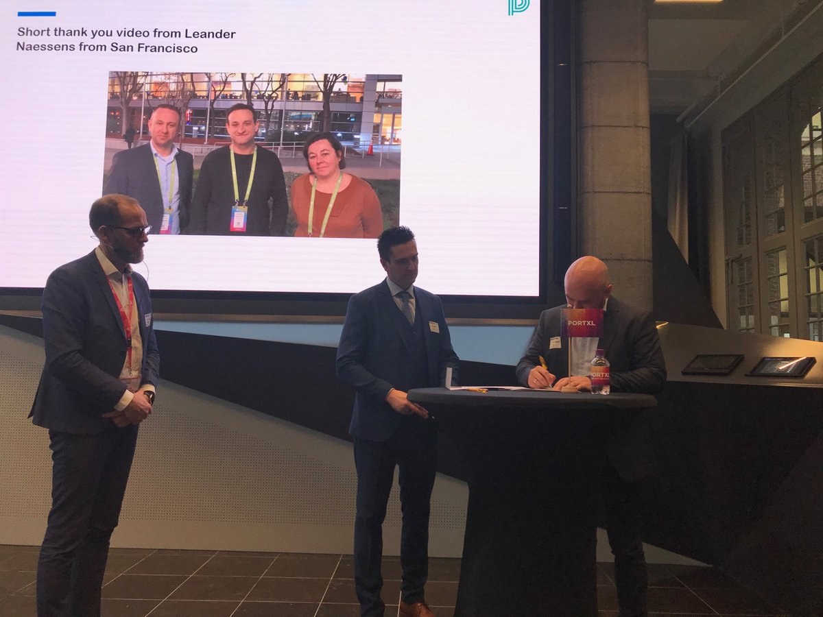 Partnerships forged @PortXLglobal : @peripasss and @PortofAntwerp formalise cooperation on automation and digitisation of access to logistics sites – at Nieuw Havenhuis