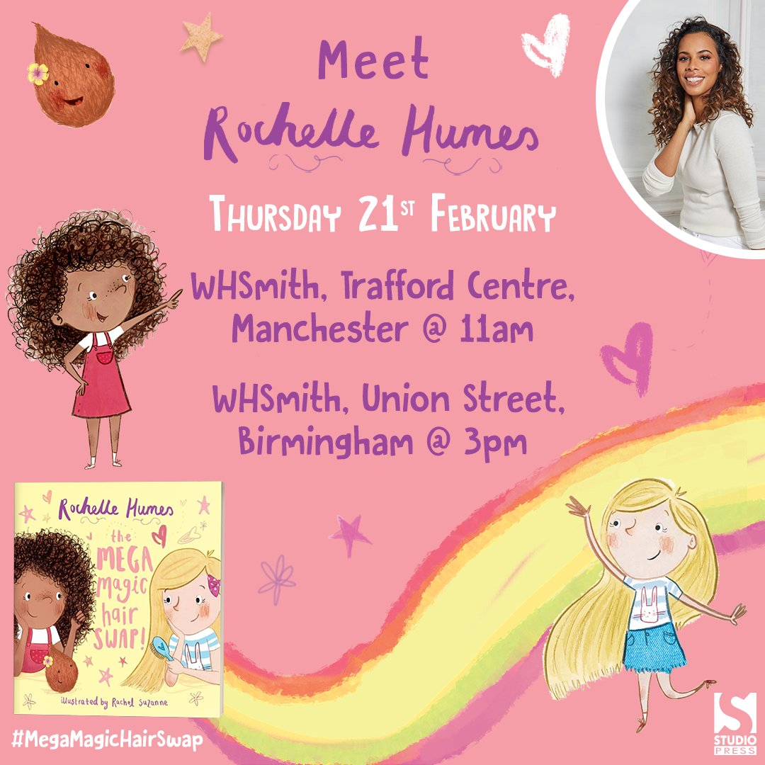 Continuing The Mega Magic Hair Swap book signing tour at @WHSmith Trafford Centre & Birmingham Union Street, Thur 21st Feb! 💖✨👩🏽🦱👩🏼🥥 x  Manchester: https://t.co/GWhh9CCc97  Birmingham: https://t.co/6A3J2yrPQ7  @WHSmithEventsEvents