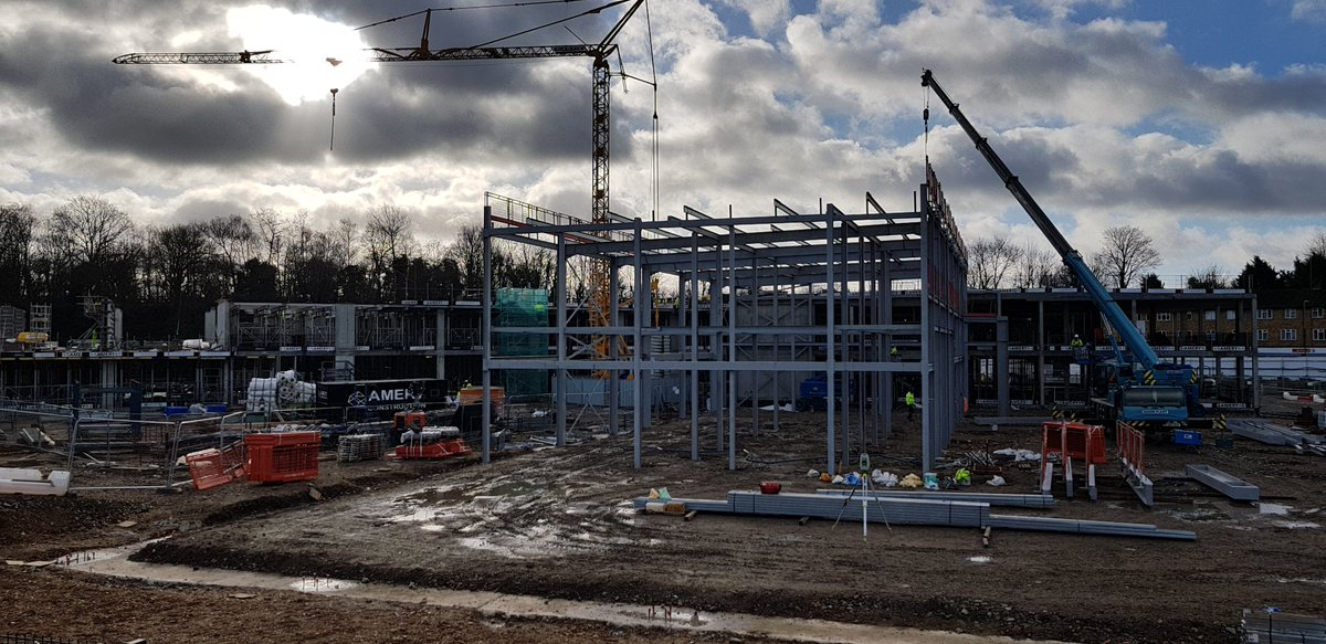 Fantastic progress seen during my site visit this week - the sports hall is now being constructed! @kierconstruct https://t.co/T81sUdojXo
