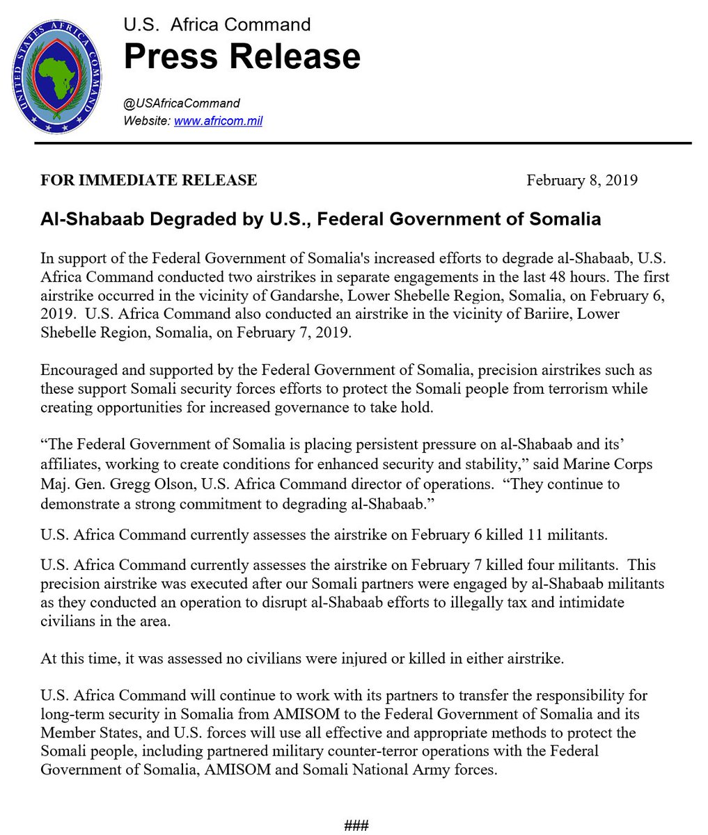 Al-Shabaab Degraded by U.S., Federal Government of Somalia - http://go.usa.gov/xERxE
