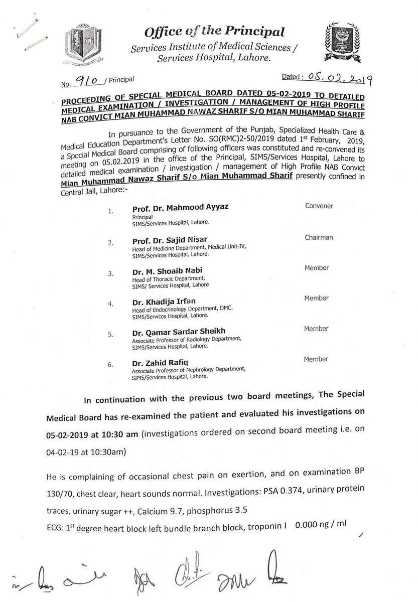 Ex PM #NawazSharif is in solitary confinement despite repeated recommendations of multiple medical boards for provision of cardiac care. Professional medical advice was ignored & kept in Services Hospital where specialized cardiac unit doesn't exist, putting health/life at risk.