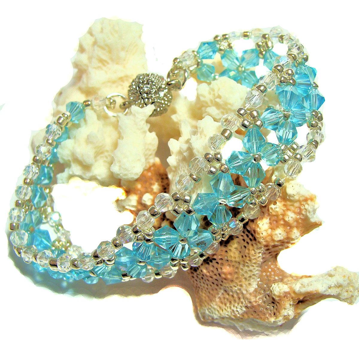 Aqua Crystal Bicones and Clear Czech Fire Polished Beaded Fantasia Bracelet  https:// etsy.me/2ROmCTc  &nbsp;   via @Etsy #aqua #crystals #beadedbracelet #bling #sparkly #biconebeads #romantic #Victorian #etsyhandmade #etsyjewelry #etsy #etsyshop #giftsforher #ValentinesDay  #shopsmall<br>http://pic.twitter.com/5BxWNsAYRF