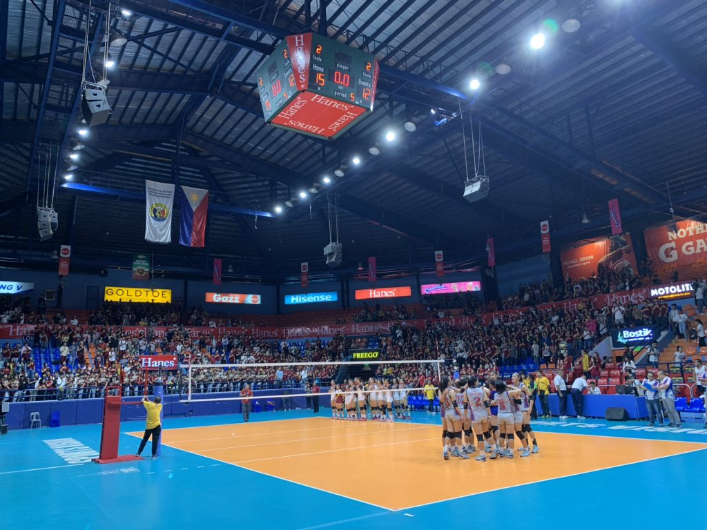 What a finish... But, it's not over yet. AU Lady Chiefs stay alive and force a deciding Game 3 vs. UPHSD Lady Altas on Tuesday, February 12, 2019. Hats off to both teams for giving it their all and to both communities as well. The arena was LIT!  #NCAASeason94  #GalingNCAA <br>http://pic.twitter.com/dsKTq4vw23