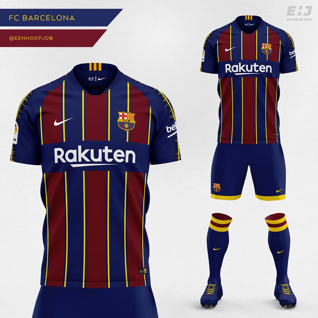 21ab96655d0 FC Barcelona Home Kit Concept. Please rate 1-10. Thoughts about this design