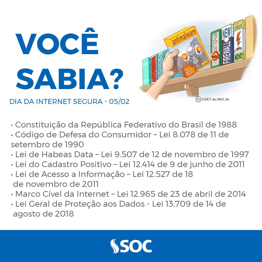 Você sabia que na internet, há uma cartilha com recomendações e dicas para auxiliar os usuários como se comportar no ambiente virtual?  Acesse no link: https://cartilha.cert.br/   #DiaDaInternetSegura #internetsegura #web #internet #InternetMaisPositiva