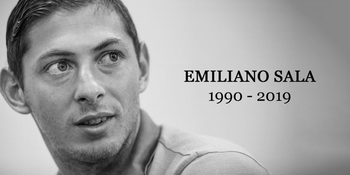 Rest in peace Emiliano Sala, what a terrible tragedy. My thoughts and prayers go out to your loved ones 🙏🏻😢 #RIPSala