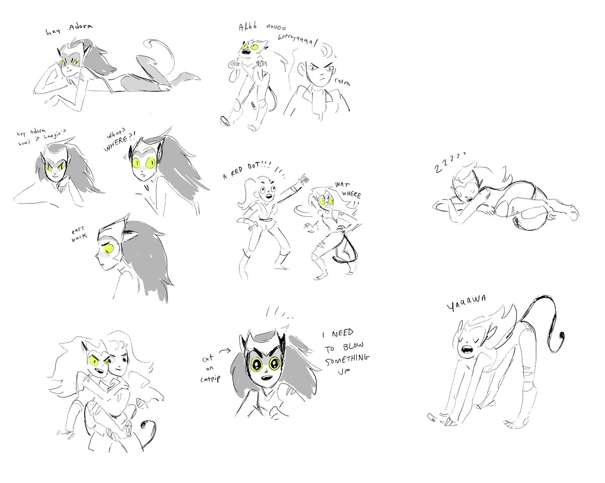 suuuuuper old Catra explorations I did way back before the pilot was boarded