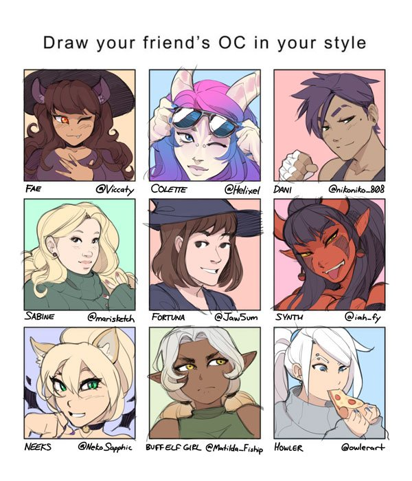 Draw Your Friends Oc Meme I Meant To Do This Last Year But Here We