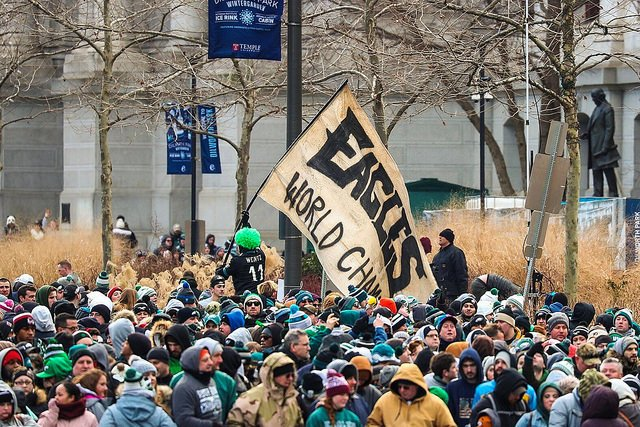 The most epic parade ever. One year ago today. Thanks to the thousands of @PhiladelphiaGov employees who worked tirelessly to help make it happen. #FBF #FlyEaglesFly
