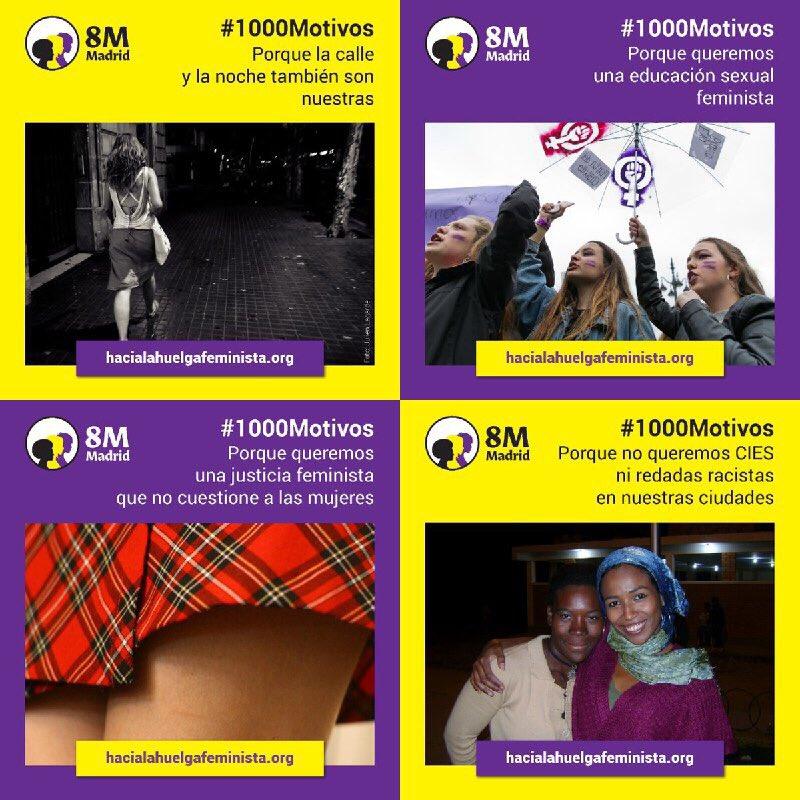 #1000Motivos y muchos más para tomar las calles y teñirlas de morado el próximo #8M. #HaciaLaHuelgaFeminista 💜💜💜