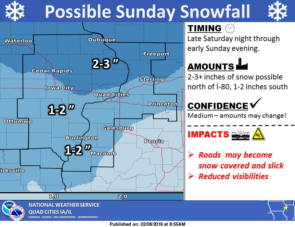 Looking ahead to potential #snowfall for Sunday...at least some light accumulations possible...
