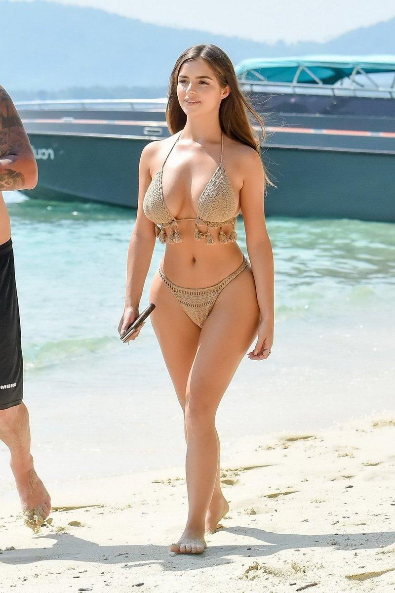 Busty beach nude