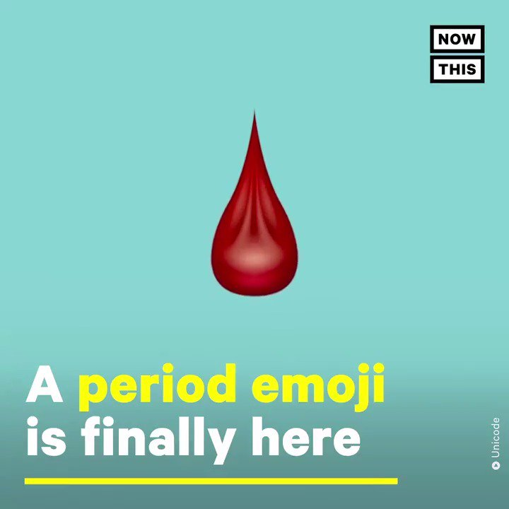 Yes, the new blood drop emoji is a 'period emoji' —and we have this girls' rights group to thank for it