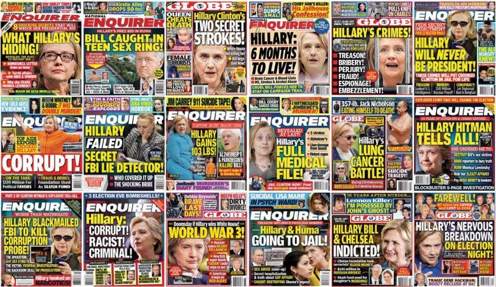 Look at what the #NationalEnquirer did to #HillaryClinton. Where was the outrage?  #JustSaying