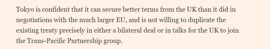 The obvious, but rarely commented on, reality of Brexit is that it will lead to the UK getting *worse* trade deals from other countries rather than better ones. https://www.ft.com/content/5ce60af2-2b90-11e9-a5ab-ff8ef2b976c7…