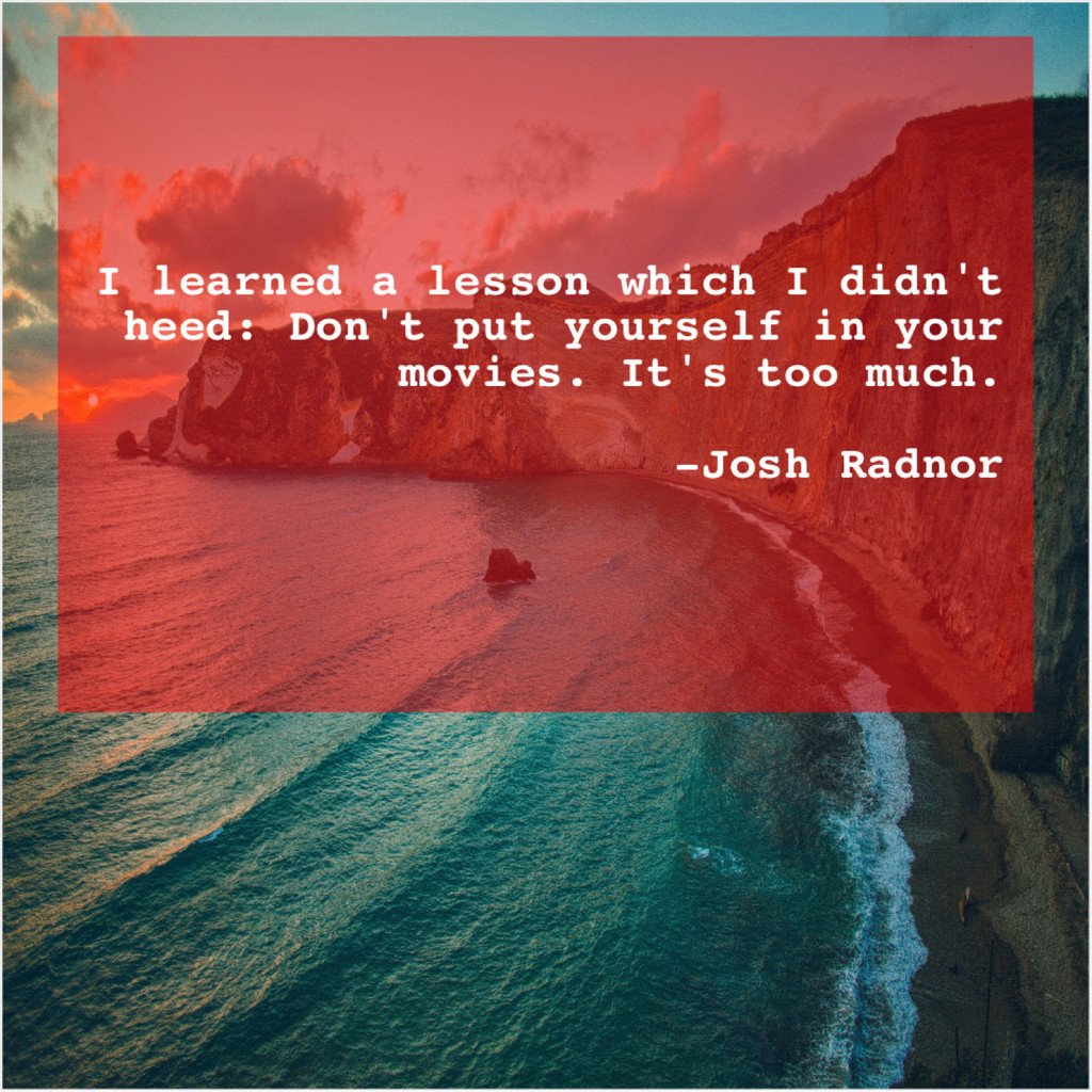 Josh Radnor – I learned a lesson which… <br>http://pic.twitter.com/2WdZVqdwaE