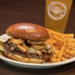 Simply delicious! Our Sweet Bourbon Burger is the perfect way to kick start your weekend. Fried onion straws, provolone cheese, mushrooms, Dijon mustard, & our new sweet bourbon sauce all piled onto one of our 1/2-pound burgers & served on a brioche bun!