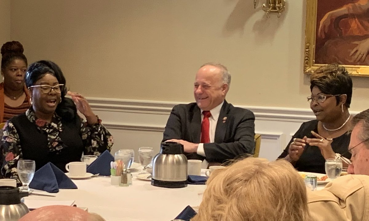 Conservative Opportunity Society breakfast featured Diamond & Silk who lit the room with unapologetic common sense. Server, Thomas took a bow for a great job.