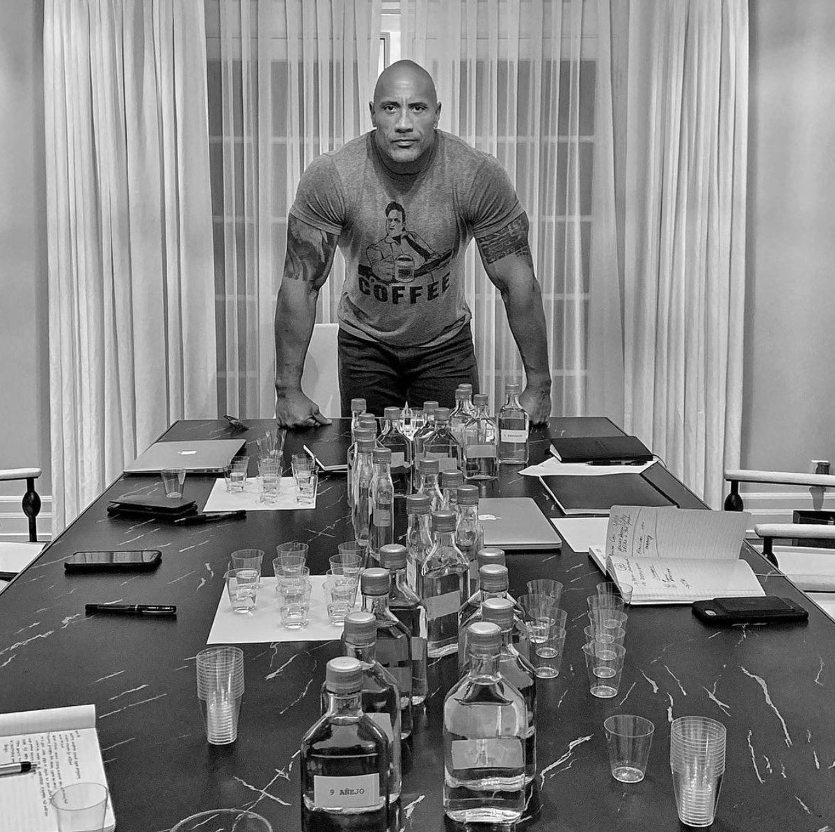 There's a lifetime of experiences that has come down to this moment for @therock. Unexpected, heartbreaking, heartwarming, humbling and iconic. A life that has been audience first since he was 18. Congratulations my friend. Let's have a drink.  #tequila #comingsoon 🥃 #CoFounder