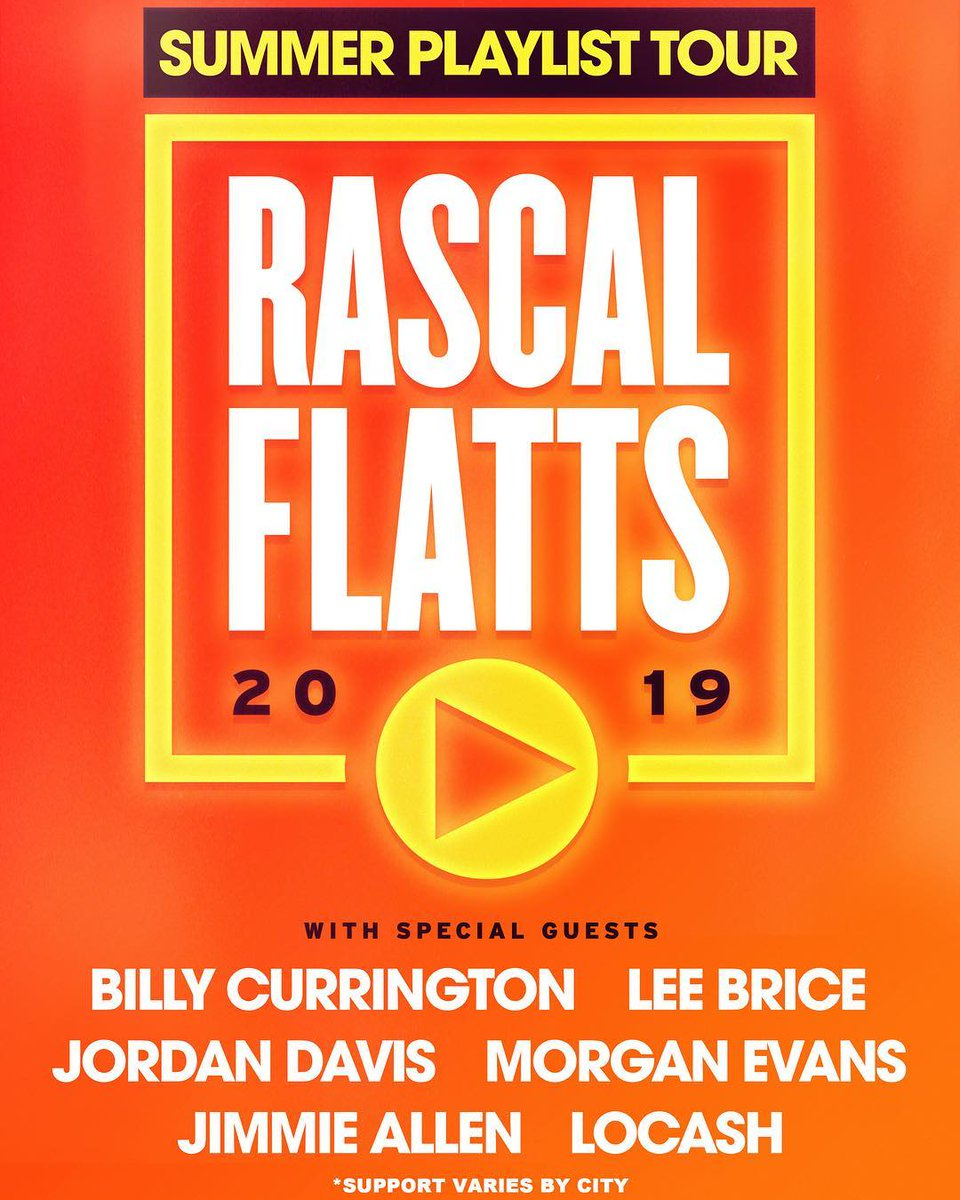 It's been a dream of mine to tour with @rascalflatts. This summer it happens!! Y'all come out and have a good time. I'll see y'all on the road. 🤙🏽⚡️