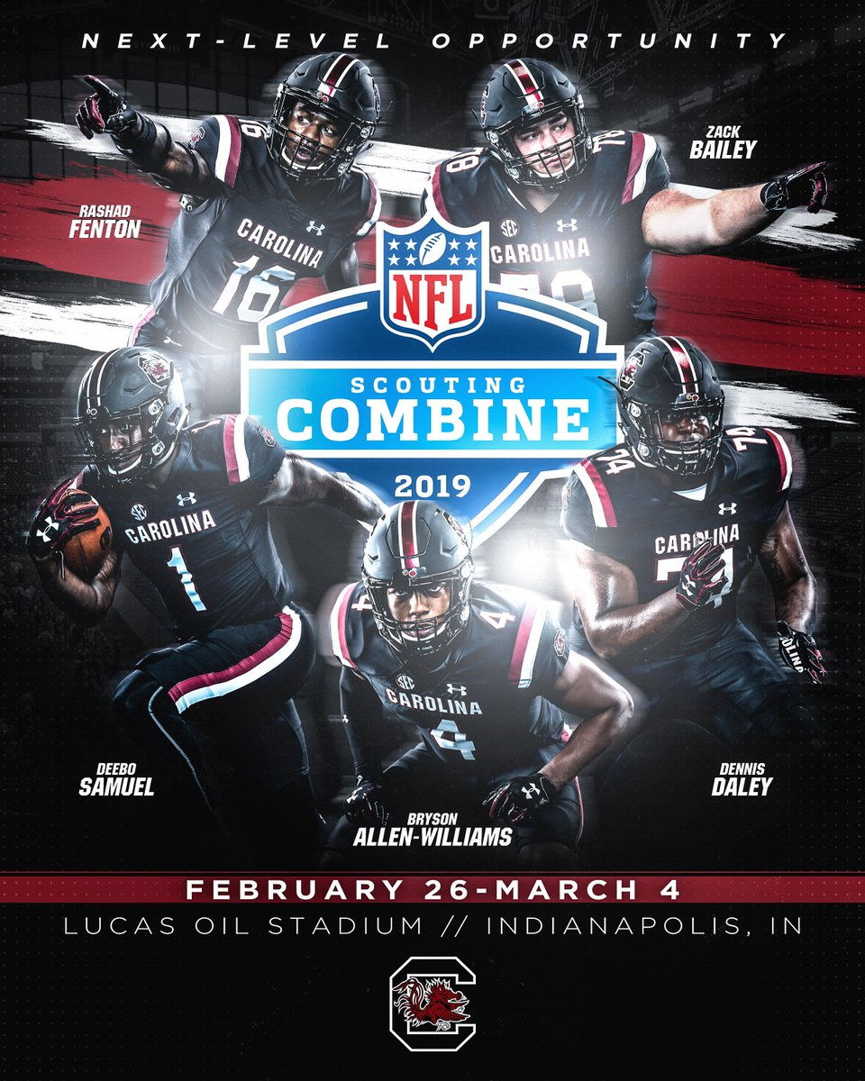 Columbia ➡️ Indianapolis  Congrats to the 5⃣ Gamecocks invited to the NFL Scouting Combine! 🤙