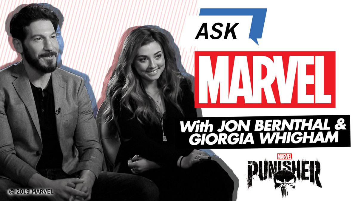 In a new episode of #AskMarvel, @ThePunisher's @jonnybernthal and @giorgia_whigham answer some of your burning questions about working on the series! https://t.co/ODz6Yh8yf7
