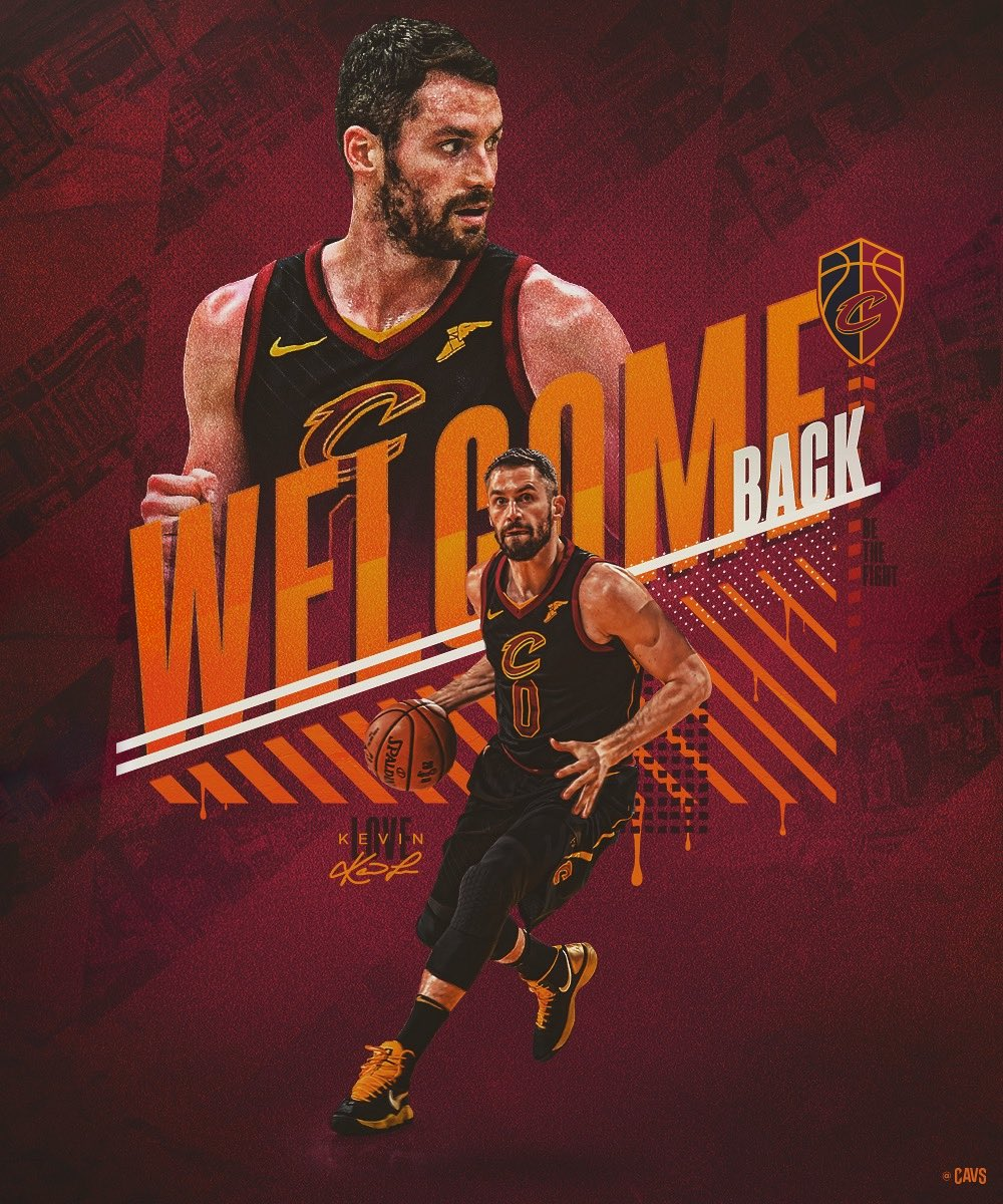 #0 returns to action tonight.  Welcome back, @KevinLove!  #BeTheFight