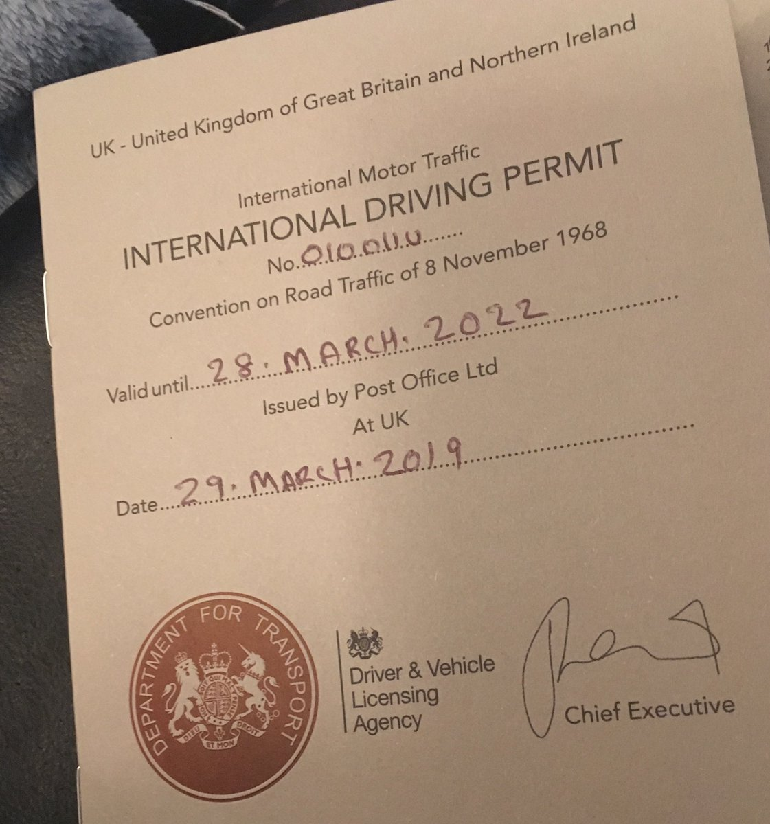 international driving permit ireland post office