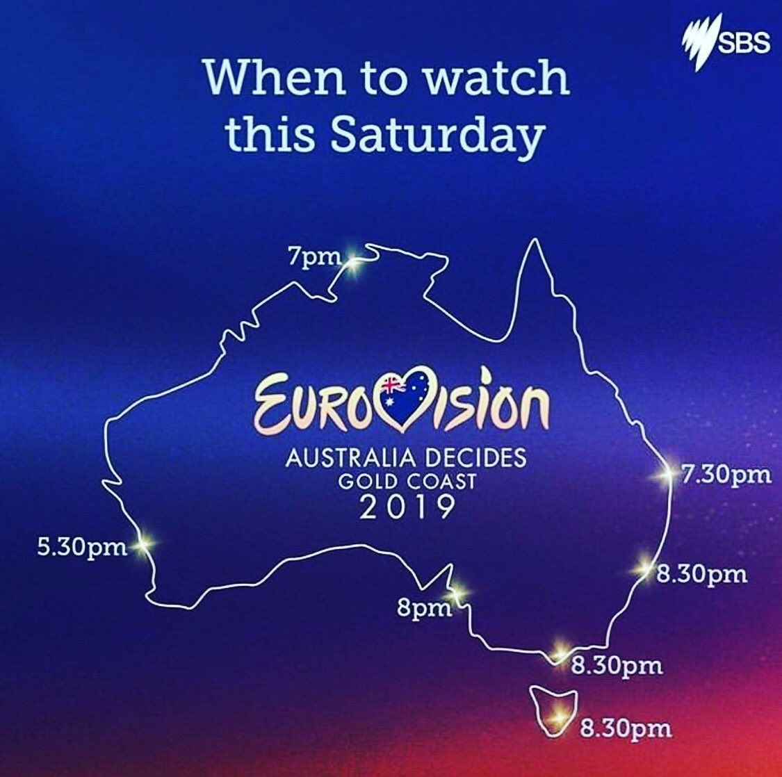 You know what to do tonight. Come and join me and @joelcreasey. I think you'll be blown away. It's seriously amazing. #AusDecides #Eurovision